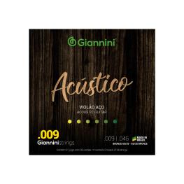 ENCORD. VIOLÃO AÇO BRONZE - GIANNINI ACÚSTICO 65/35 009 GESWAL