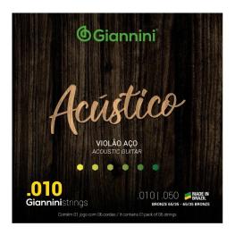 ENCORD. VIOLÃO AÇO BRONZE - GIANNINI ACÚSTICO 65/35 010