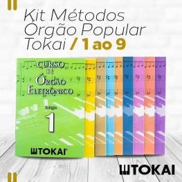 KIT MÉTODO DE ORGÃO ELETR. POPULAR - TOKAI