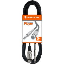 CABO P/ MICROFONE  PLAYER 5M XLR(F) X P10 - HAYONIK