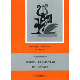 COMPENDIO DE TEORIA ELEMENTAR DA MÚSICA RB-38 / Osvaldo Lacerda