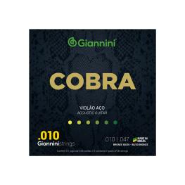 ENCORD. VIOLÃO AÇO BRONZE - GIANNINI COBRA 80/20 CA82XL - 010