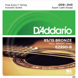 ENCORD. VIOLÃO BRONZE 85/15 - DADARIO EZ890-B - 009