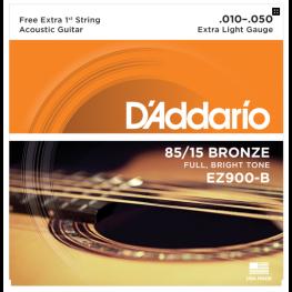 ENCORD. VIOLÃO BRONZE 85/15- DADARIO EZ900-B - 010