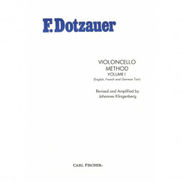 F DOTZAUER VIOLONCELLO VOLUME I