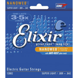 ENCORD. GUITARRA  - ELIXIR NANOWEB CUSTON LIGTH 009