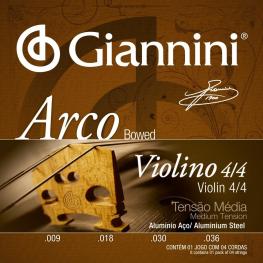 ENCORD VIOLINO T. MÉDIA ALUMINIO- GIANNINI GEAVVA